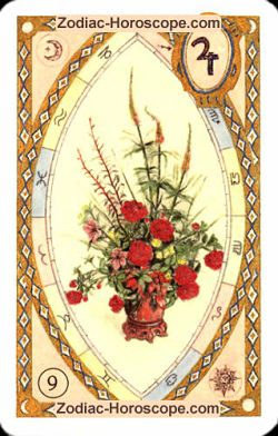 The bouquet astrological Lenormand Tarot