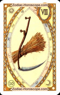 The scythe, monthly Love and Health horoscope July Pisces