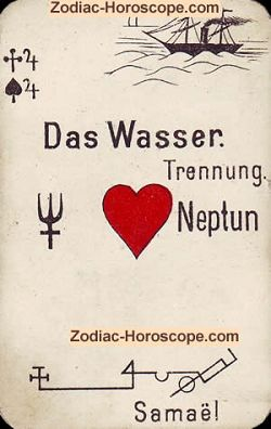 water astrological psychic cards
