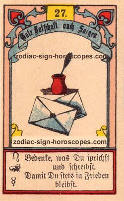 The letter, monthly Pisces horoscope April