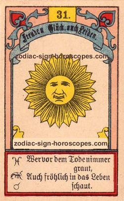 The sun, monthly Pisces horoscope January